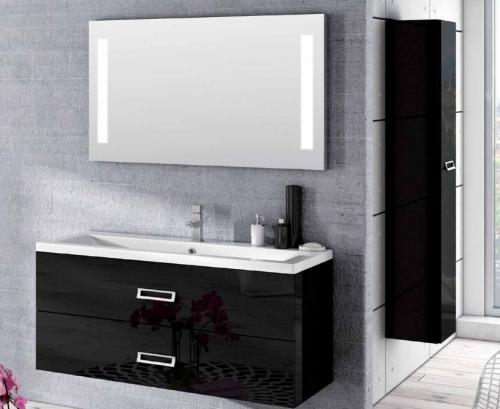 Mobile bagno in colori o in legno per arredo moderno con lavabo