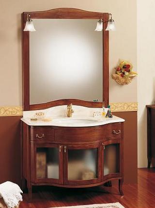 Mobile bagno con foglia oro per arredo mobili arte povera legno massello 234 ebay - Lavabi doppi per bagno ...