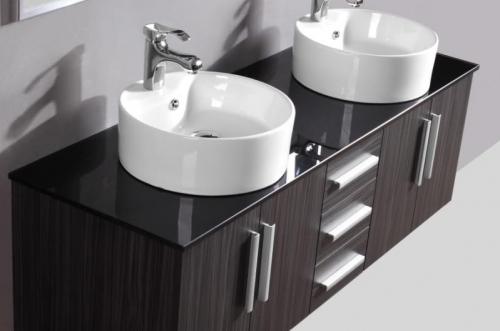 Mobile bagno wenge 39 mobili doppio lavabo appoggio per - Doppio lavabo da appoggio bagno ...