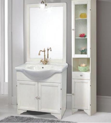 Mobile da bagno decap decape 39 bianco anticato arte povera - Mobili bagno a terra mondo convenienza ...