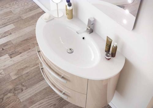 Mobile bagno in colori per arredo moderno sospeso marion lavabo