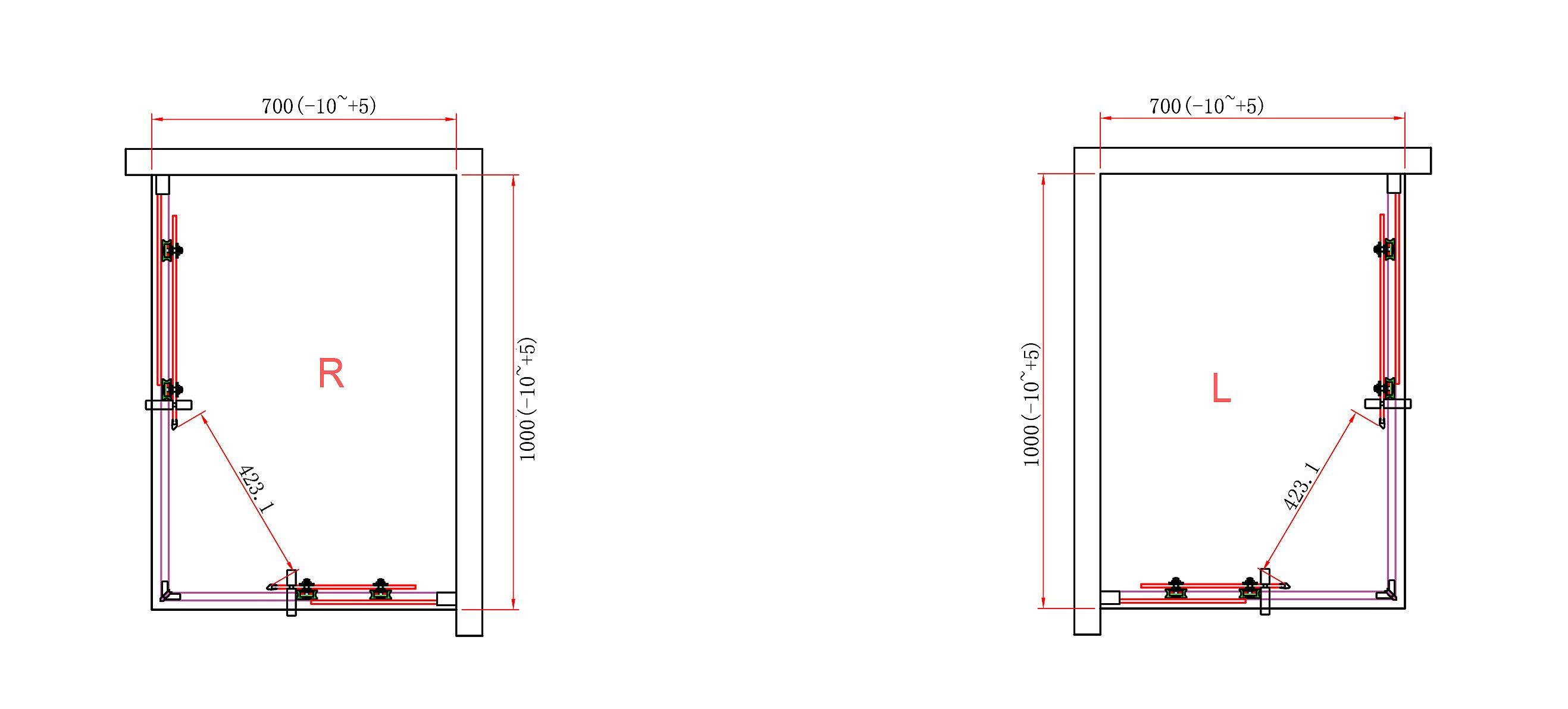 Box doccia angolare 8mm quadrato rettangolare altezza 190 - Altezza box doccia ...