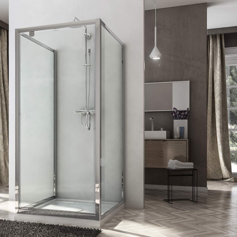 Box doccia due ante fisse porta a battente anta unica for Foto box doccia