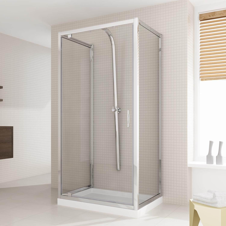 Box doccia due ante fisse porta a battente anta unica - Altezza maniglia porta ...