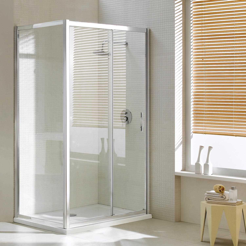 Box doccia porta fissa anta scorrevole H185 198 profilo in ...