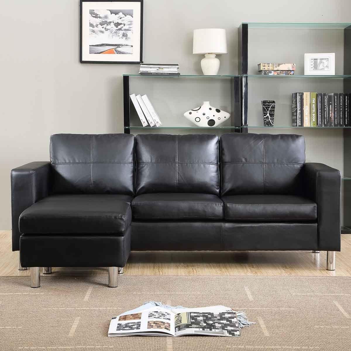Divano angolare roma con pouf 205 cm ecopelle bianco nero - Altezza seduta divano ...