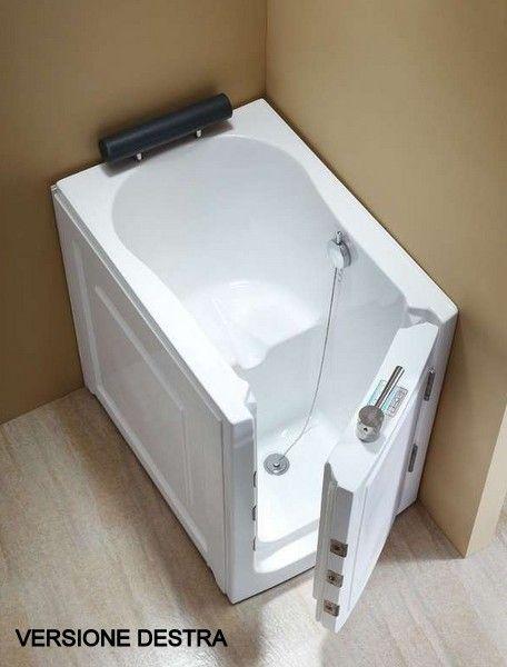 Vasca da bagno sportello laterale 136x78 o 100x70 vs075 vs076 - Vasca da bagno con apertura laterale ...
