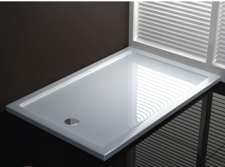 Piatto doccia acrilico design sottile e moderno go - Piatto doccia incassato nel pavimento ...