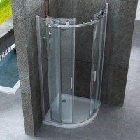 Box doccia angolare vetro trasparente opaco bagno italia pa - Box doccia senza telaio ...