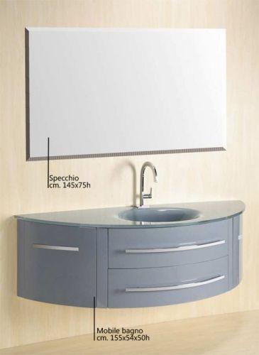 Mobile bagno beta con lavabo in cristallo colorato bz for Arredo bagno viola