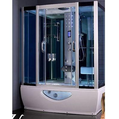 cabina e vasca idromassaggio 150x85cm con sauna, bagno turco - Bagni Moderni Con Vasca Idromassaggio