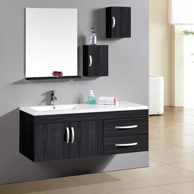 Mobile da bagno moderno con lavabo decentrato a sinistra sb - Lavelli da appoggio per bagno ...