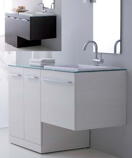 arredo bagno mobile vip con coprilavatrice portalavatrice unica soluzione con copri lavatrice