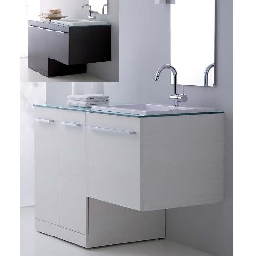 mobile bagno vip, mobile moderno con coprilavatrice mc - Arredo Bagno Lavatrice