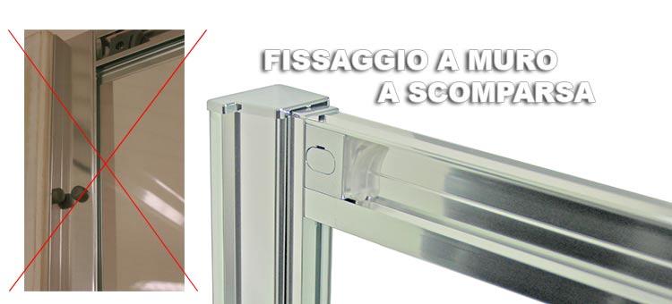 Porta Doccia Con Due Ante Scorrevoli Per Nicchia H 185 198