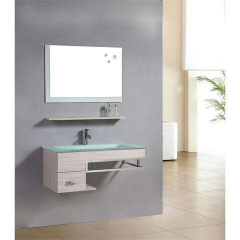 Mobile per bagno da 100 arredo con lavabo in cristallo verde ...