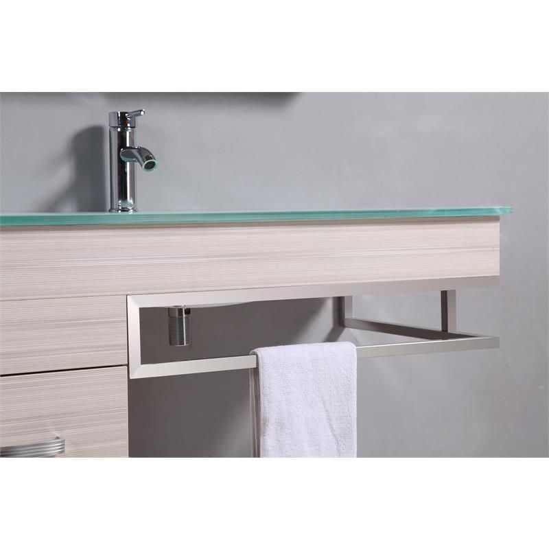 Arredo bagno moderno smile completo di lavabo decentrato sb - Bagno completo ikea ...
