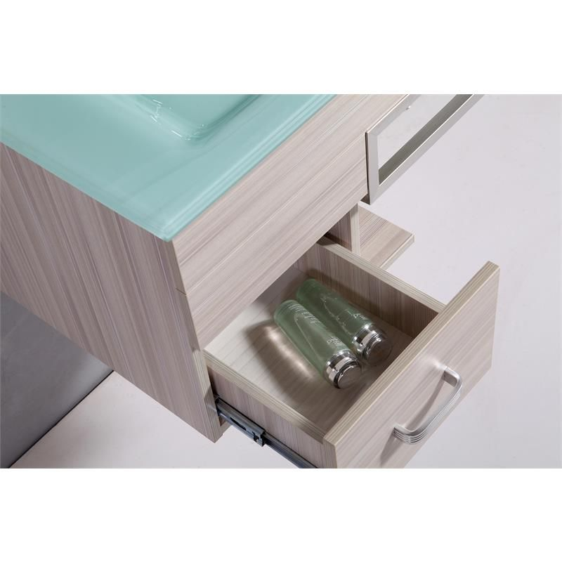 arredo bagno moderno smile, completo di lavabo decentrato sb - Arredo Bagno Sospeso Offerte