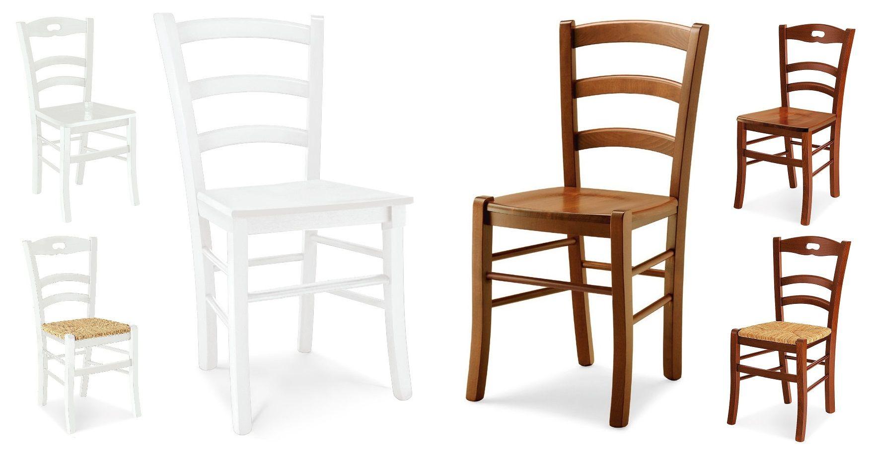 Mobili da arredo : Sedia Eva legno colore bianco opaco e noce ...