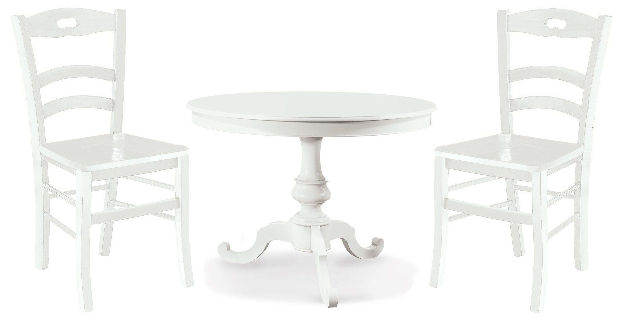 Tavolo Vivian Rotondo Colore Bianco Opaco Diametro 100 O