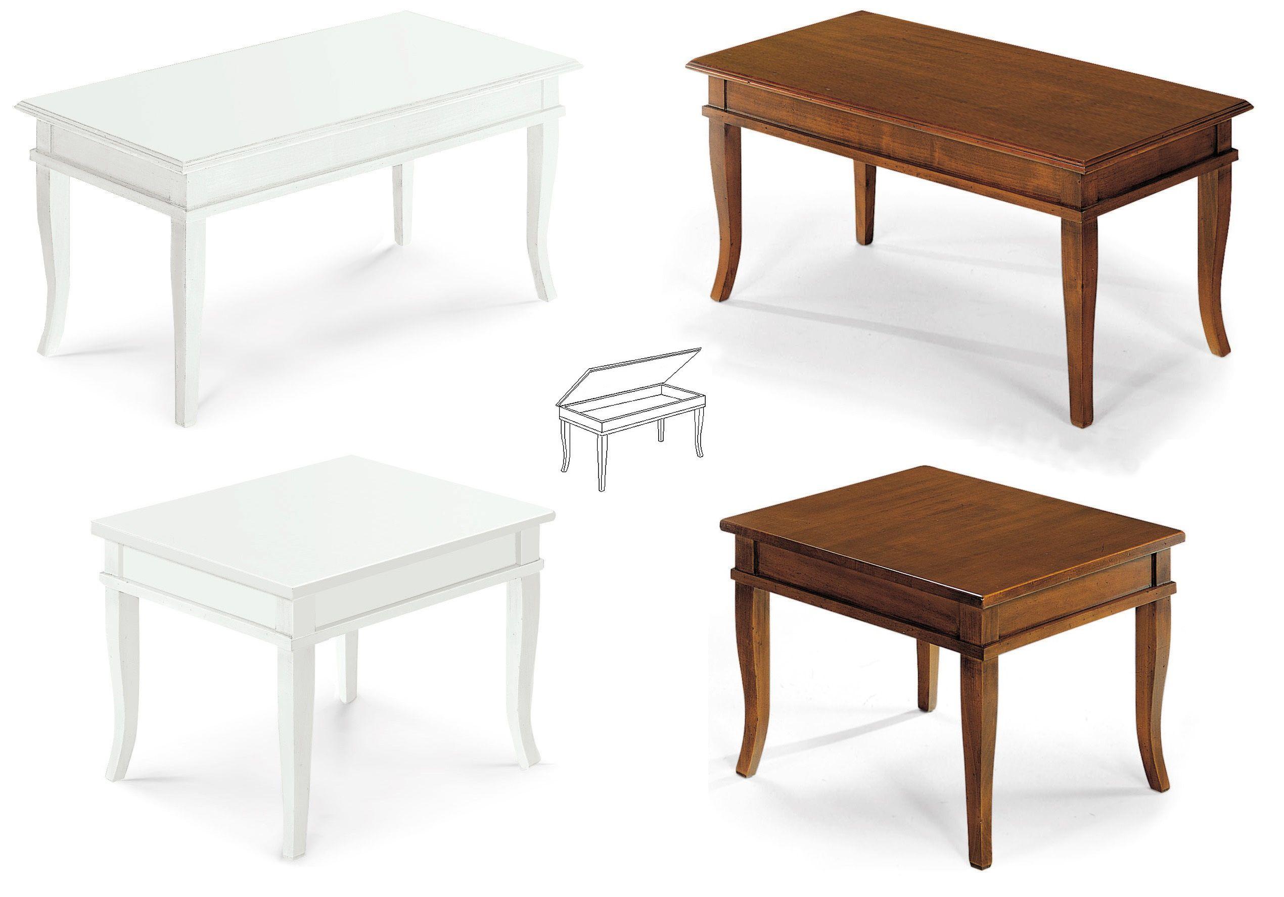 Tavolini In Legno Bianco : Mobile kelly tavolino bacheca piano legno colore bianco opaco e