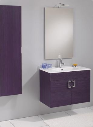Arredobagno corfu da 74cm disponibile in 5 colori bh - Mobile bagno viola ...