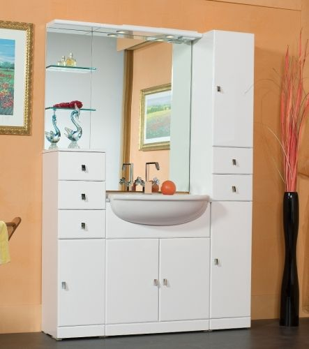 mobile bagno cleo cm 65 bianco lucido