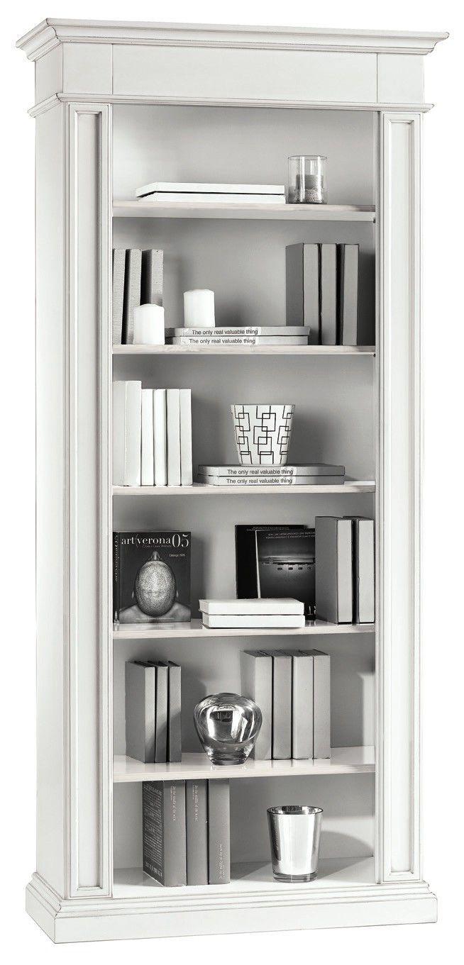 Mobili da arredo : mobile gaia libreria nei colori bianco opaco e ...