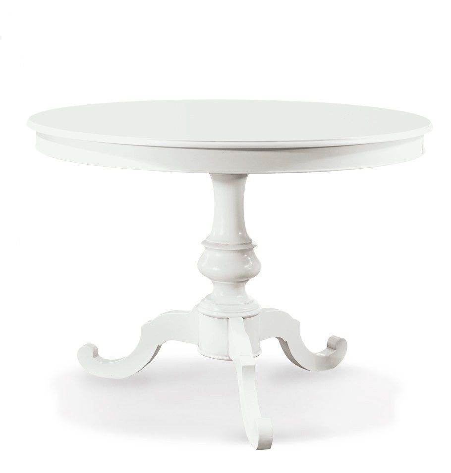 Tavolo vivian rotondo colore bianco opaco diametro 100 o for Tavolo rotondo o qui