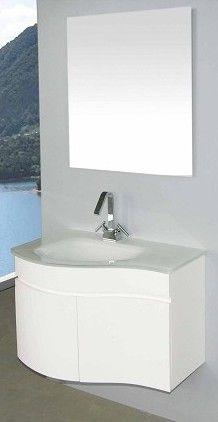 Arredo bagno asia completo di lavabo in cristallo de - Bagno arancione ...