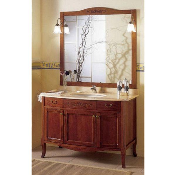 Mobile bagno arte povera massello 116 lavabo sottopiano for Arredamento bagno arte povera