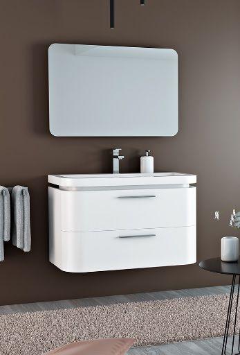 Mobile da bagno moderno saturno con 2 cassetti pa for Mobile bagno moderno sospeso prezzi