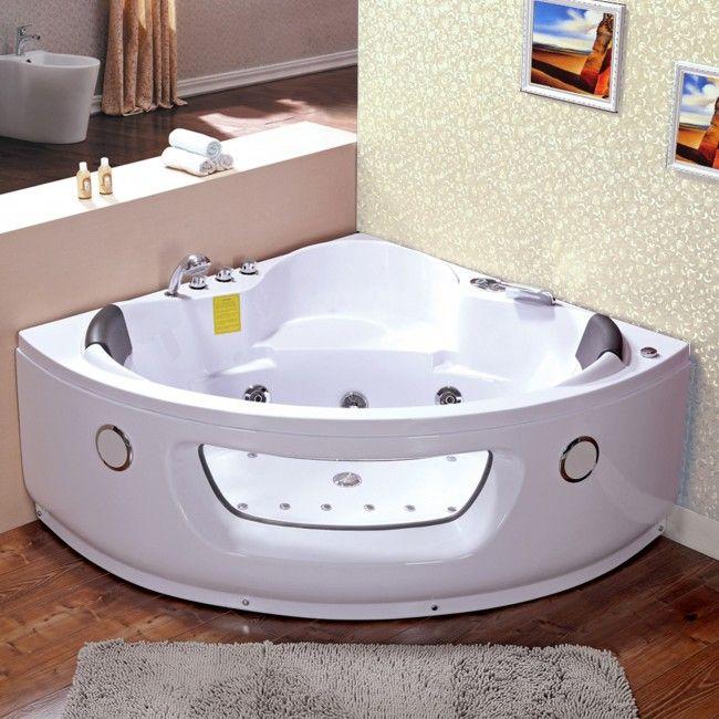 Vasca idromassaggio 140x140 con 22 getti doppia pompa di - Cromoterapia vasca bagno ...