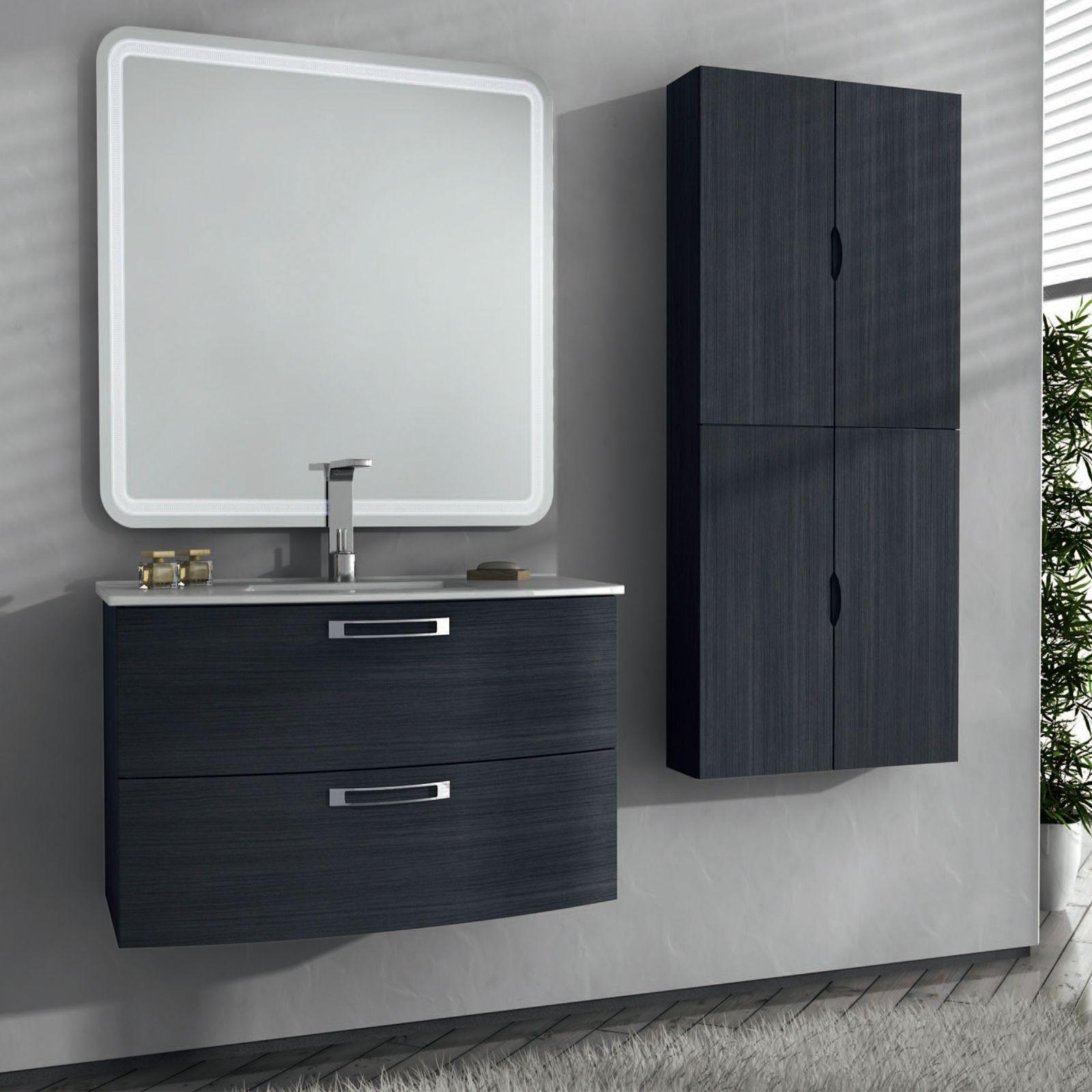 Arredo bagno moderno converse in vari colori bh - Arredo bagno grigio ...