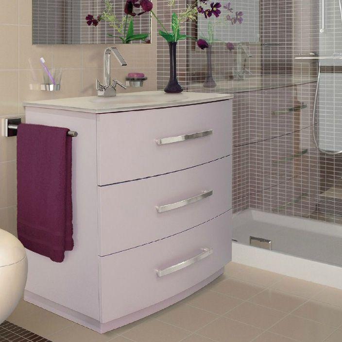 arredo bagno country in 3 colori lavabo in cristallo moderno a terra