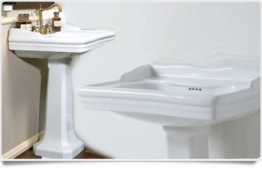 Bidet con water serie classica scarico a pavimento o - Lavabo con colonna ...
