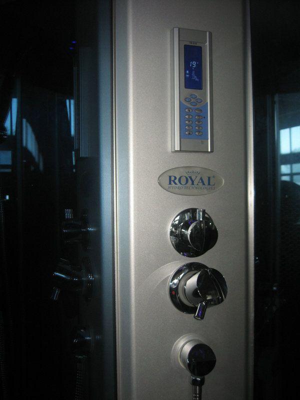Cabina idromassaggio con vasca 120x80 con sauna e cromoterapia - Colonna doccia bagno turco ...