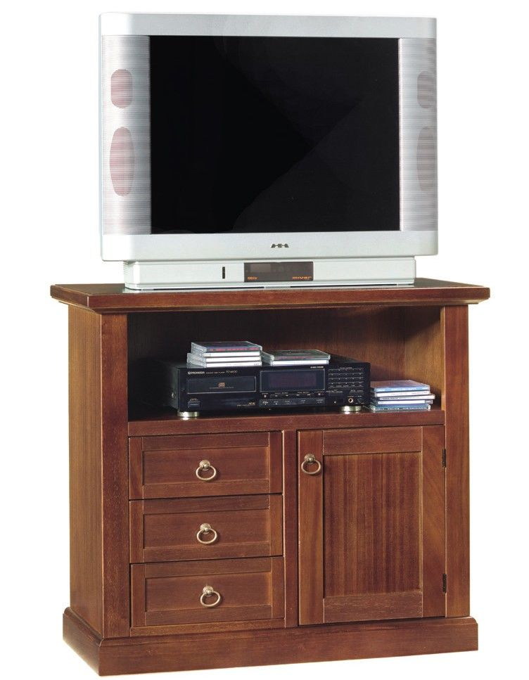 Mobile ester porta tv 3 modelli diversi misure nei colori bianco opaco e noce lucido porta - Mobile porta tv ikea ...