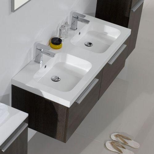 Arredo bagno mobile moderno doppio lavabo pa - Arredo bagno doppio lavabo ...