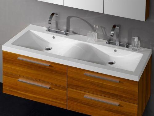 Mobile da bagno moderno double doppio lavabo 3 colori pa - Lavabo doppio bagno ...