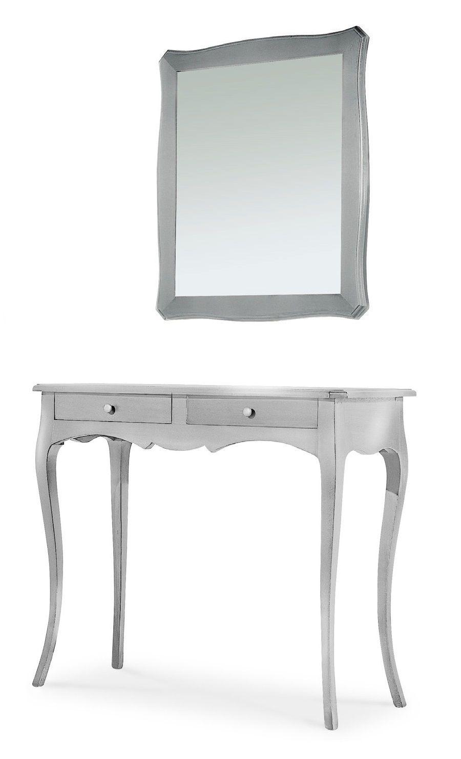 Mobile marilyn consolle con specchio per ingresso colore for Consolle argento economica