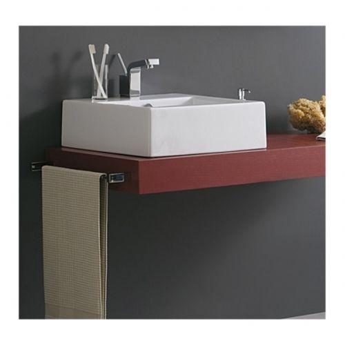Piano mensola per lavabo d 39 appoggio in legno in vari colori mf - Mensole per bagno fai da te ...