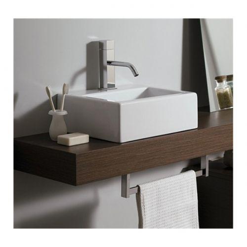 Piano mensola per lavabo d 39 appoggio in legno in vari colori mf - Piano lavandino bagno ...
