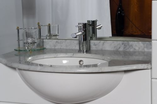 Mobile Bagno Cleo 100 Bianco Completo Con Lavabo In