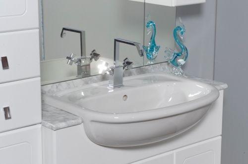 Arredo bagno cleo, mobile bagno semincasso con doppio lavabo bh