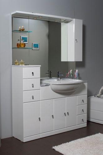 Mobile bagno cleo cm 81 con lavabo semincasso bh - Bagno italia it ...