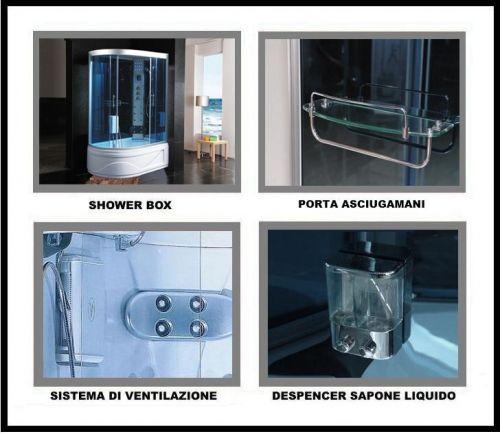 cabina con vasca idromassaggio box sauna bagno turco doccia cb027