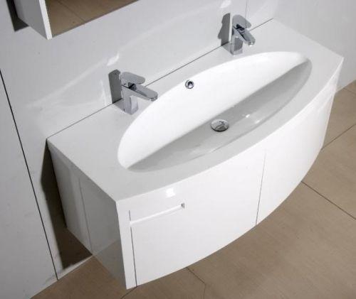 Mobile Bagno Moderno Venere, Arredo Bagno con Doppio Lavabo pd