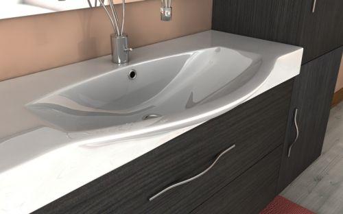 Mobile bagno new york per arredo bagno moderno vari colori bh - Arredo bagno grigio ...