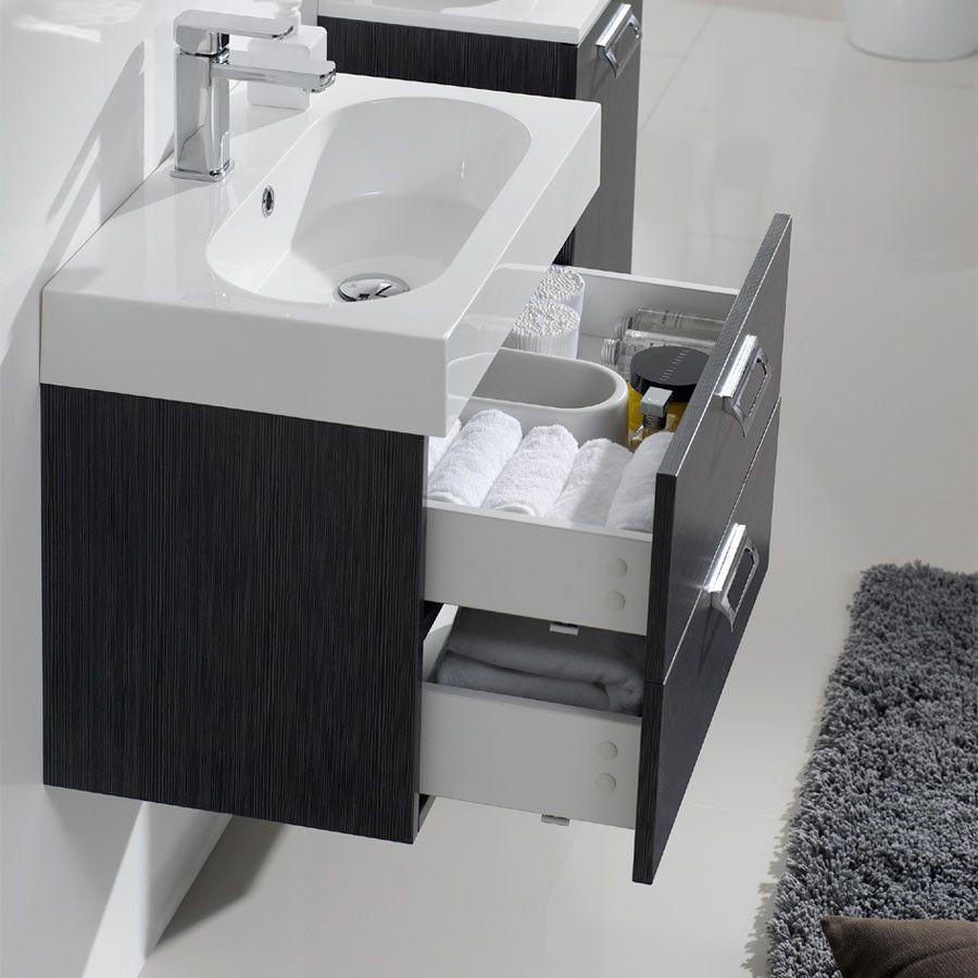 Arredo bagno alma mobile bagno moderno in rovere pa - Bagno arredo moderno ...